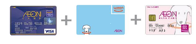 イオンカードとWAONとイオンバンクカード