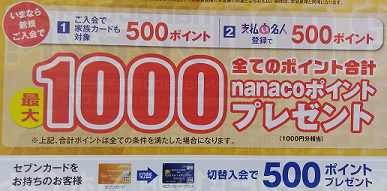 イトーヨーカドー店舗のセブンカードプラスのポスター