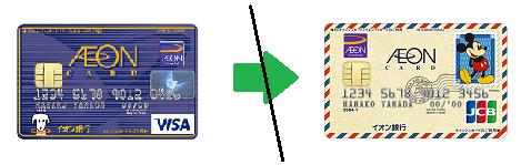 イオンカードセレクトのデザイン変更はできません