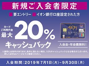 イオンカード最大20%キャッシュバック(新規入会キャンペーン)